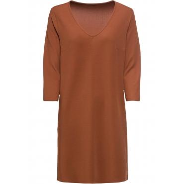 Jerseykleid 3/4 Arm  in braun für Damen von bonprix