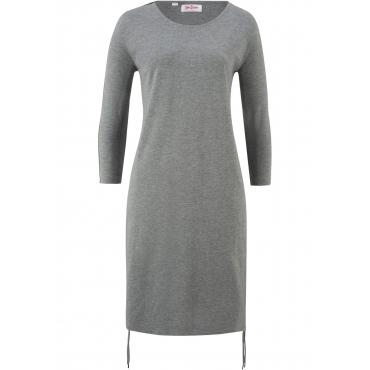 Jerseykleid, 3/4-Arm in grau für Damen von bonprix