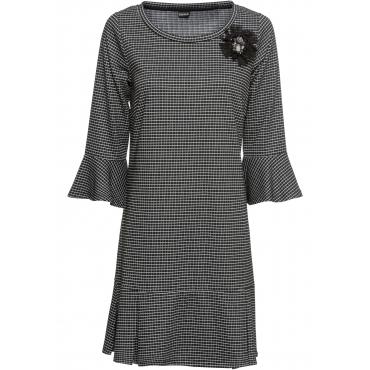 3/4-Arm-Jerseykleid in schwarz für Damen von bonprix
