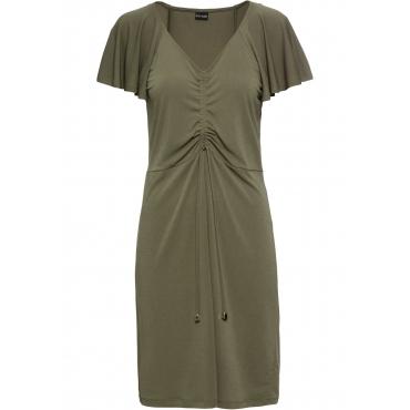 Jerseykleid aus Crepe kurzer Arm  in grün für Damen von bonprix