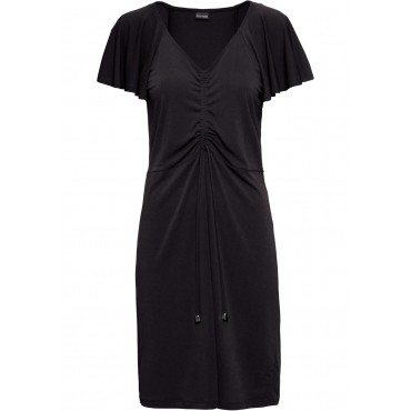 Jerseykleid aus Crepe kurzer Arm  in schwarz für Damen von bonprix
