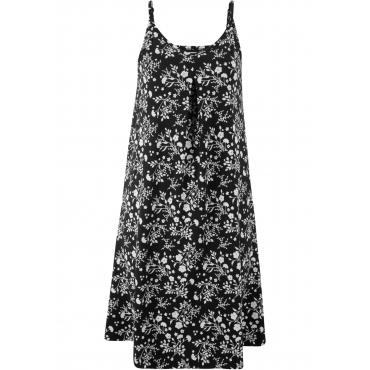 Jerseykleid, bedruckt ohne Ärmel  in schwarz für Damen von bonprix