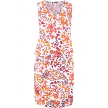 Jerseykleid, bedruckt ohne Ärmel  in weiß für Damen von bonprix