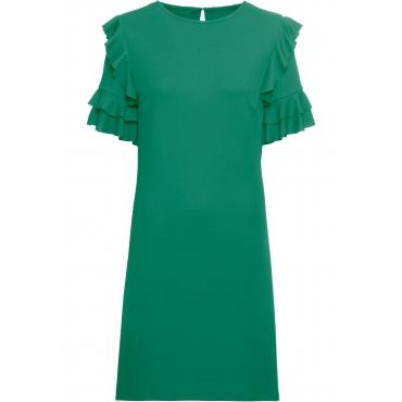Jerseykleid halber Arm  in grün für Damen von bonprix