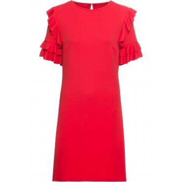 Jerseykleid halber Arm  in rot von bonprix