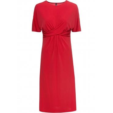 Jerseykleid halber Arm  in rot für Damen von bonprix