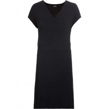 Jerseykleid im Modal-Mix kurzer Arm  in schwarz von bonprix