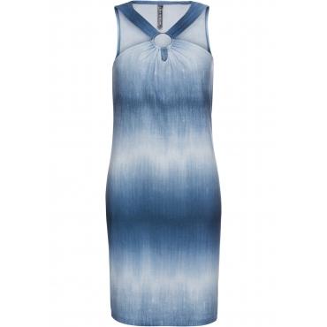 Jerseykleid in Jeansoptik ohne Ärmel  in blau für Damen von bonprix
