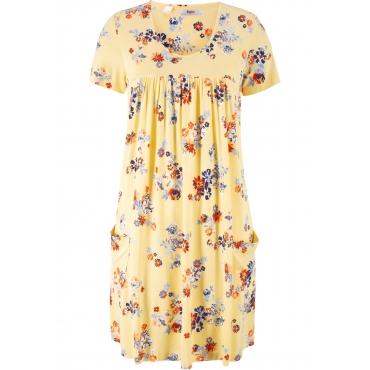Jerseykleid, Kurzarm in gelb für Damen von bonprix