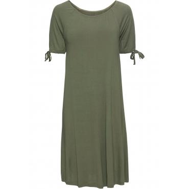 Jerseykleid kurzer Arm  in grün für Damen von bonprix
