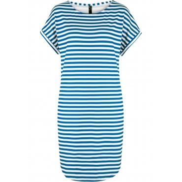 Jerseykleid, locker geschnitten kurzer Arm  in blau für Damen von bonprix