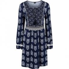 Jerseykleid mit Bindeband in blau von bonprix