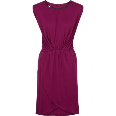 Jerseykleid mit Ketten-Applikation in lila von bonprix