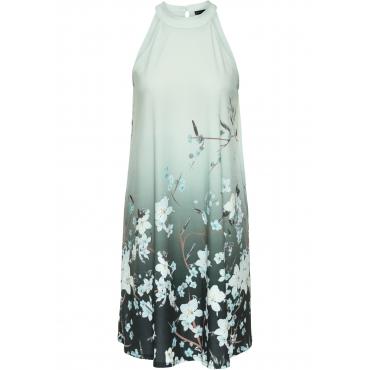Jerseykleid mit Print ohne Ärmel  in grün für Damen von bonprix