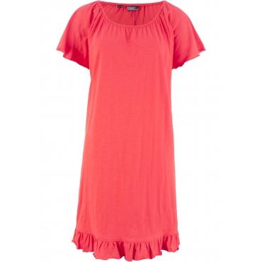 Jerseykleid mit Volants kurzer Arm  in rot für Damen von bonprix