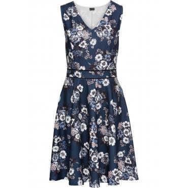 Jerseykleid ohne Ärmel  in blau von bonprix