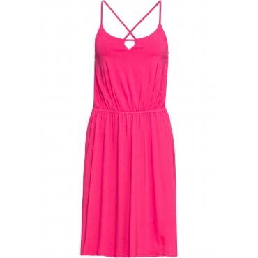 Jerseykleid ohne Ärmel  in pink für Damen von bonprix