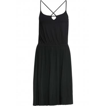 Jerseykleid ohne Ärmel  in schwarz für Damen von bonprix