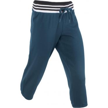 Jogginghose in 3/4-Länge in blau für Damen von bonprix