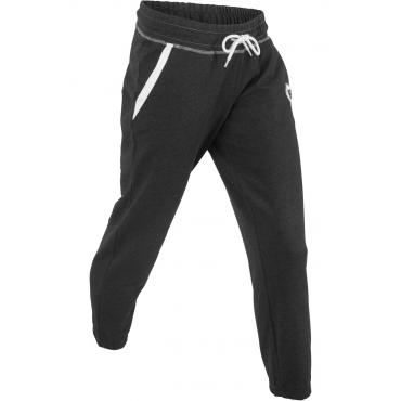 Jogginghose in 7/8-Länge in schwarz für Damen von bonprix