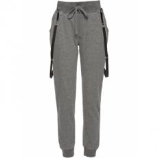 Jogginghose mit Hosenträgern in grau für Damen von bonprix