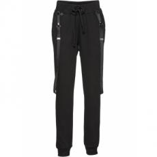 Jogginghose mit Hosenträgern in schwarz für Damen von bonprix