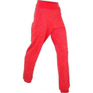 Jogginghose mit Umschlagbund in rot für Damen von bonprix
