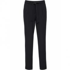 Karotten-Hose mit Bindegürtel in schwarz für Damen von bonprix