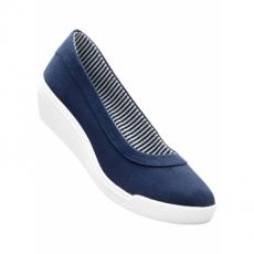 Keilballerina in blau für Damen von bonprix