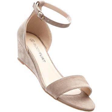 Keil Sandalette mit 4,5 cm Keilabsatz in braun von bonprix