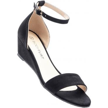 Keil Sandalette mit 4,5 cm Keilabsatz in schwarz von bonprix