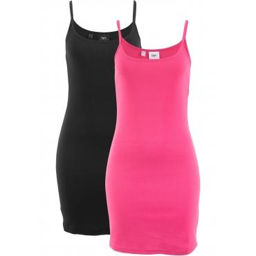 Kleid (2er-Pack) ohne Ärmel  in pink für Damen von bonprix