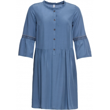 Kleid 3/4 Arm  in blau für Damen von bonprix