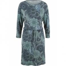 Kleid, 3/4-Arm in blau von bonprix