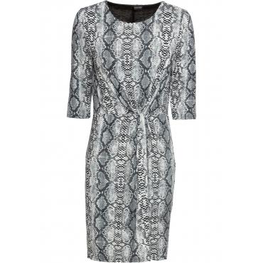 Kleid 3/4 Arm  in grau von bonprix