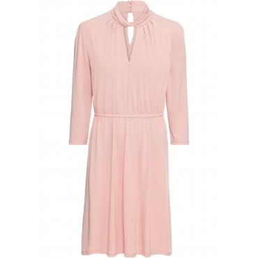Kleid aus Crepe Jersey 3/4 Arm  in rosa von bonprix