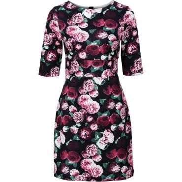 Kleid aus festem Jersey 3/4 Arm  in schwarz von bonprix