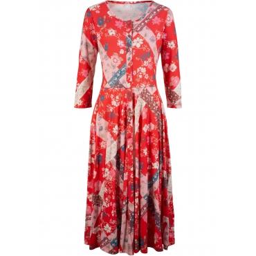 Kleid - designt von Maite Kelly 3/4 Arm  in rot von bonprix