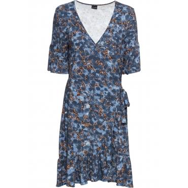 Kleid halber Arm  in blau  von bonprix