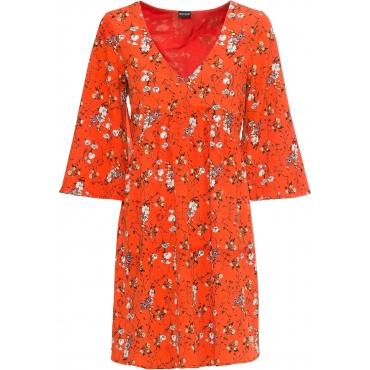 Kleid halber Arm  in orange für Damen von bonprix