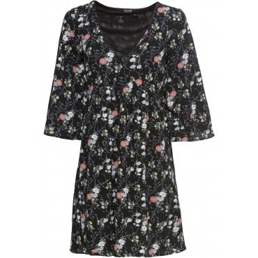 Kleid halber Arm  in schwarz für Damen von bonprix