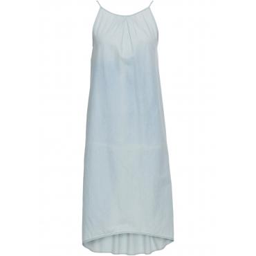 Kleid in Denim-Optik ohne Ärmel  in blau für Damen von bonprix
