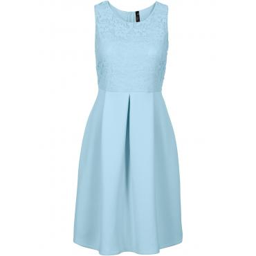 Kleid in Scubaoptik in blau von bonprix