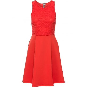 Kleid in Scubaoptik in rot von bonprix