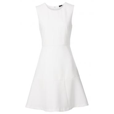 Kleid in weiß (Rundhals) von bonprix