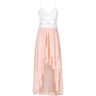 Kleid ohne Ärmel  in weiß (herzförmiger Ausschnitt) für Damen von bonprix