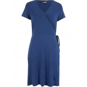 Kleid in Wickeloptik kurzer Arm  in blau für Damen von bonprix