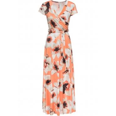 Kleid in Wickeloptik kurzer Arm  in orange für Damen von bonprix