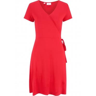 Kleid in Wickeloptik kurzer Arm  in rot für Damen von bonprix