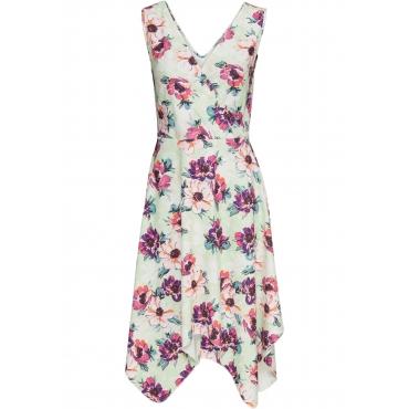 Kleid in Wickeloptik ohne Ärmel  in grün von bonprix